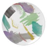 Acuarela abstracta platos