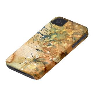 Acuarela abstracta y viejo fondo Case-Mate iPhone 4 protectores