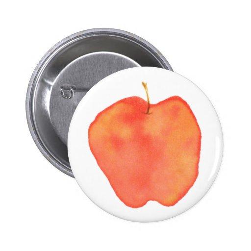 Acuarela Apple Pin