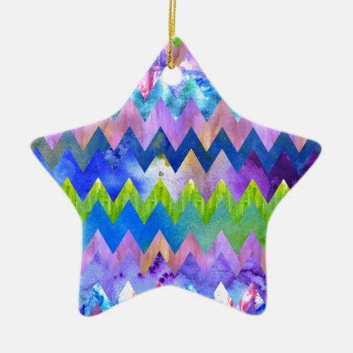 Acuarela artsy de moda que pinta el modelo de Chev Ornaments Para Arbol De Navidad