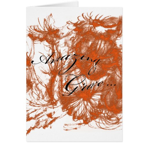 Acuarela asombrosa Greeti anaranjado quemado Tarjeta De Felicitación