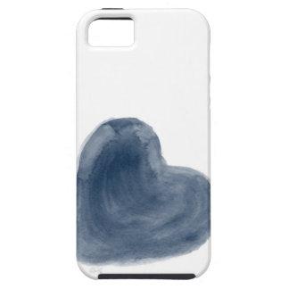 Acuarela azul de la edición del corazón funda para iPhone SE/5/5s