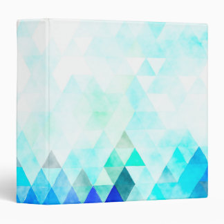 """Acuarela azul de los triángulos de la aguamarina carpeta 1 1/2"""""""