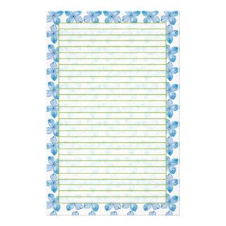 Acuarela azul del papel de los efectos de escritor papeleria personalizada