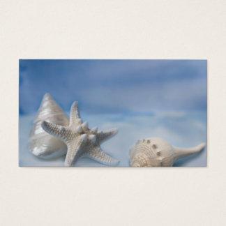 Acuarela azul pintada a mano de los pescados de la tarjetas de visita