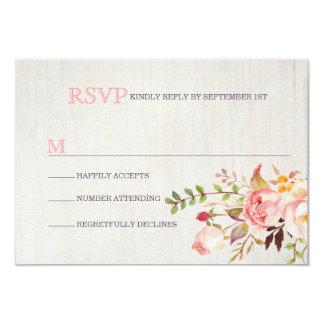 Acuarela bohemia que casa las tarjetas de RSVP Invitación 8,9 X 12,7 Cm