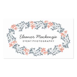 Acuarela bonita de la guirnalda el | de la flor tarjetas de visita