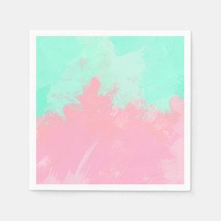 Acuarela brillante del extracto del rosa de la servilletas de papel