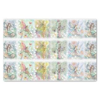 Acuarela caprichosa del arte de hadas de la flor papel de seda pequeño