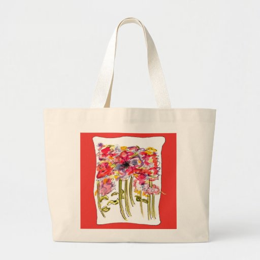 Acuarela caprichosa del Wildflower Bolsa De Mano