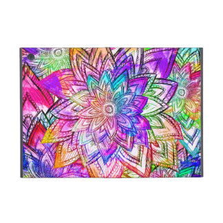Acuarela colorida del dibujo del estampado de flor iPad mini protectores