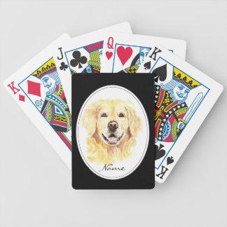Acuarela con nombre del personalizado del golden r cartas de juego