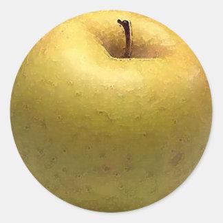 Acuarela de Apple del oro - pegatina