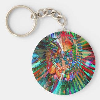 Acuarela de arco iris llavero redondo tipo pin