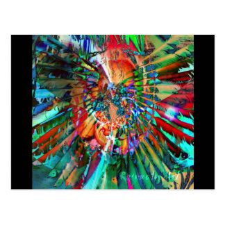 Acuarela de arco iris tarjetas postales
