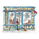 Acuarela de BOULANGERIE 28 París Tarjeta Postal