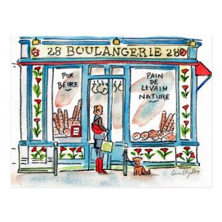 Acuarela de BOULANGERIE 28 París Tarjetas Postales