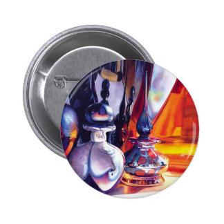 """Acuarela de cristal Paul Jackson del arte de los """" Pin Redondo 5 Cm"""