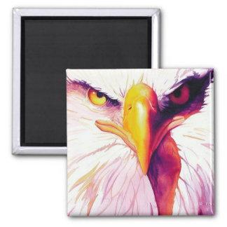 """Acuarela de """"Everette"""" Eagle calvo Imanes De Nevera"""