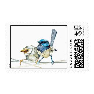 Acuarela de hadas de la original del franqueo de l timbre postal