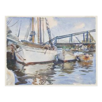 Acuarela de John Singer Sargent - paisaje marino Postal
