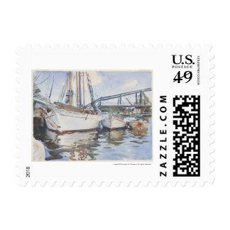Acuarela de John Singer Sargent - paisaje marino Sello Postal