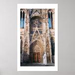 """Acuarela de la catedral de Chartres del """"peregrina Poster"""