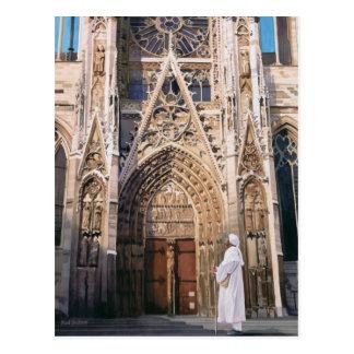 """Acuarela de la catedral de Chartres del """"peregrina Tarjetas Postales"""