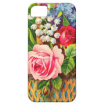 Acuarela de la cesta floral del vintage iPhone 5 Case-Mate coberturas