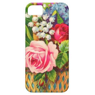 Acuarela de la cesta floral del vintage iPhone 5 funda