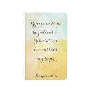 Acuarela de la cita del verso de la biblia del cuaderno