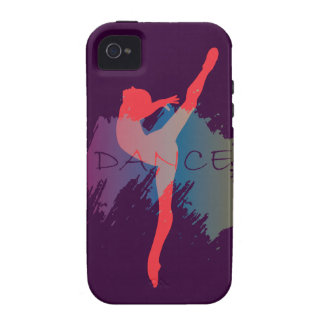 Acuarela de la danza iPhone 4 carcasas