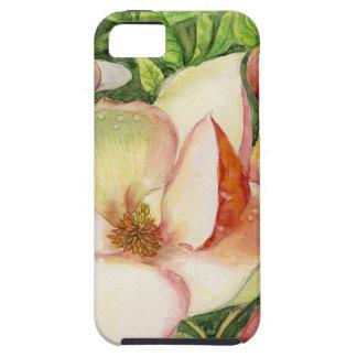 Acuarela de la flor de la magnolia iPhone 5 Case-Mate carcasas