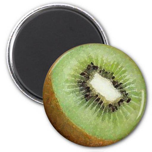 Acuarela de la fruta de kiwi - imán