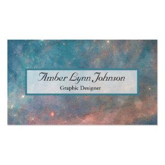 Acuarela de la galaxia tarjetas de visita