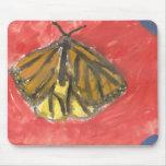 Acuarela de la mariposa alfombrilla de raton