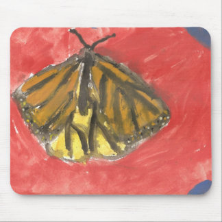 Acuarela de la mariposa tapetes de ratón