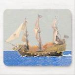Acuarela de la nave de piratas de los SS Alfombrillas De Ratones