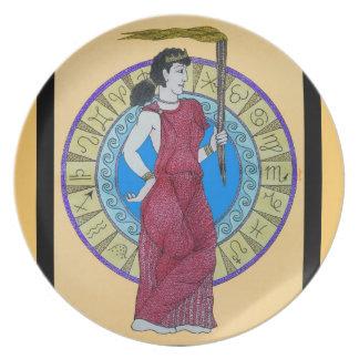 Acuarela de la original del ~ de Greeking Plato Para Fiesta