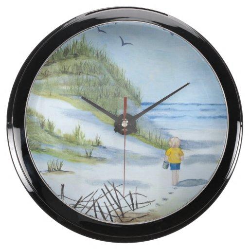 Acuarela de la playa reloj aquavista