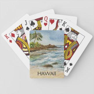 Acuarela de la playa de Hawaii de la ensenada de Barajas De Cartas