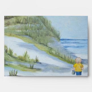 Acuarela de la playa sobre