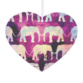 Acuarela de la púrpura del modelo de los elefantes