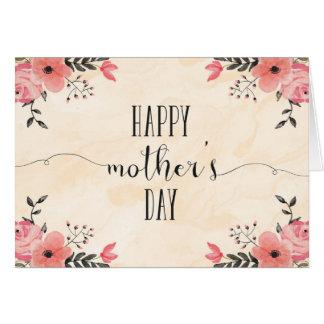 Acuarela de la tarjeta del día de madre de las