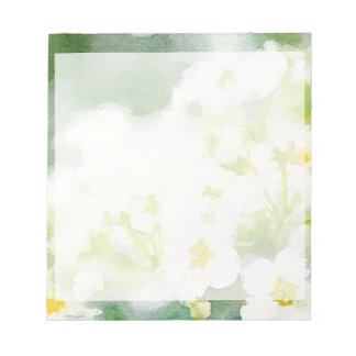 Acuarela de las flores blancas blocs de papel