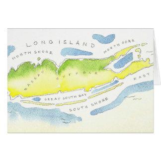 Acuarela de Long Island Tarjeta De Felicitación