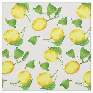 Acuarela de los agrios de los limones telas