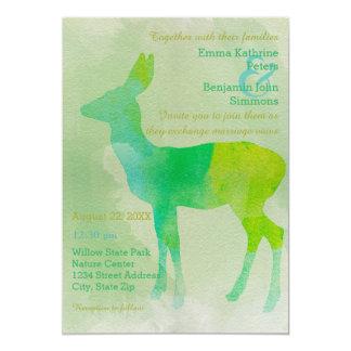 Acuarela de los ciervos - invitación del boda