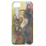 Acuarela de los monstruos del gatito funda para iPhone 5C