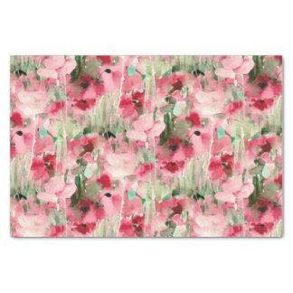 Acuarela de moda roja y vintage rosado floral papel de seda pequeño